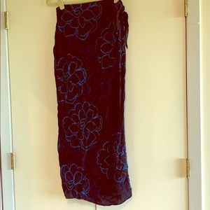 """Wrap skirt or beach sarong fits up to 31"""" waist"""